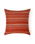 Evening Sand Rust 18X18 Cotton Linen Tussar Kutchi Weaving Cushion Cover