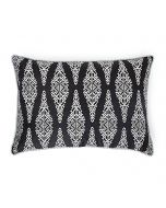 Barfi Black N White 14X20 Silk Brocade Cushion Cover