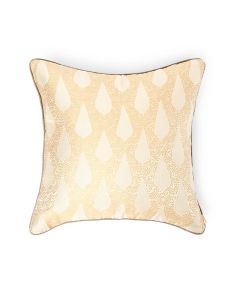 Kairi Butter Beige 18X18 Silk Tanchoi Cushion Cover