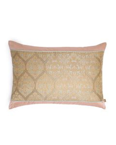 Trellis Beige 14X20 Handwoven Silk Brocade Cushion Cover