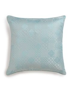 Jaye Blue 18X18 Handwoven Silk Tanchoi Cushion Cover