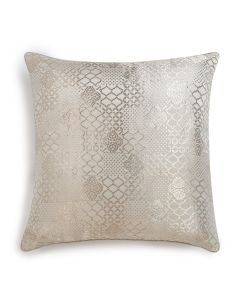 Jaye Silver 18X18 Handwoven Silk Zari Tanchoi Cushion Cover